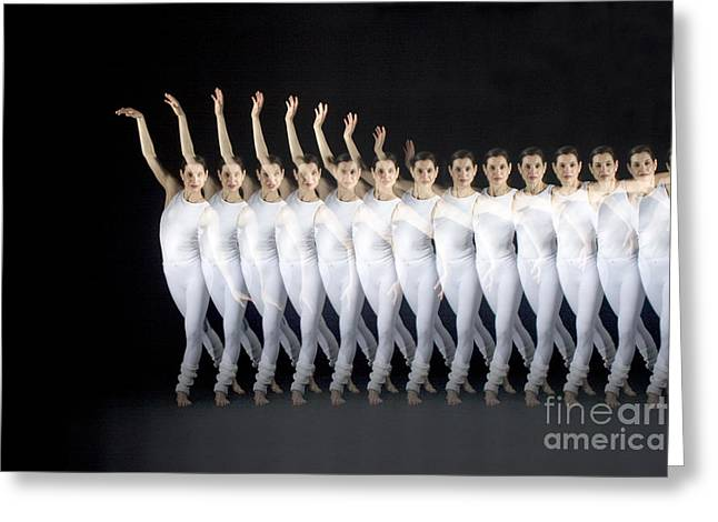 Stroboscopic Images Greeting Cards - Dancer Greeting Card by Ted Kinsman