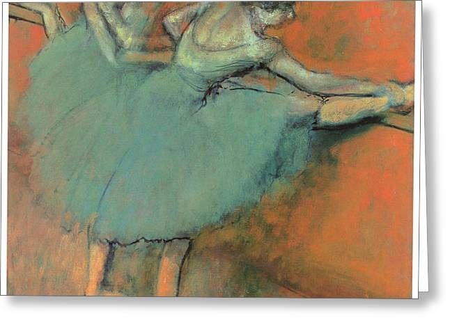 Dancers at the Bar Greeting Card by Edgar Degas