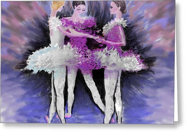 Dancing in a Circle Greeting Card by Cynthia Sorensen