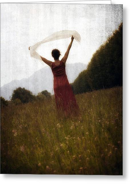 Turf Greeting Cards - Dancing Greeting Card by Joana Kruse