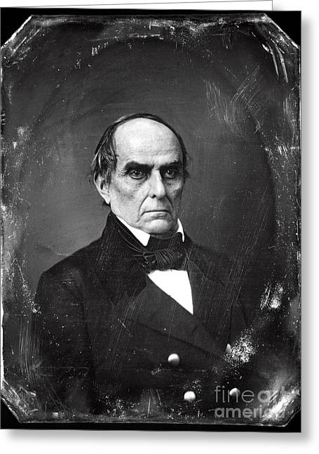 American Politician Photographs Greeting Cards - Daniel Webster Greeting Card by Photo Researchers