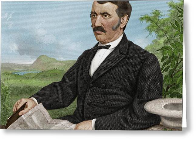 David Livingstone, Scottish Explorer Greeting Card by Maria Platt-evans
