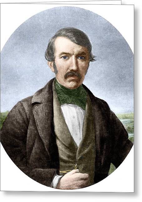 Anti-slavery Photographs Greeting Cards - David Livingstone, Scottish Explorer Greeting Card by Sheila Terry