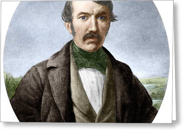 David Livingstone, Scottish Explorer Greeting Card by Sheila Terry