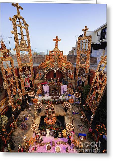 San Miguel De Allende Greeting Cards - Day of the Dead Altar Greeting Card by Jeremy Woodhouse