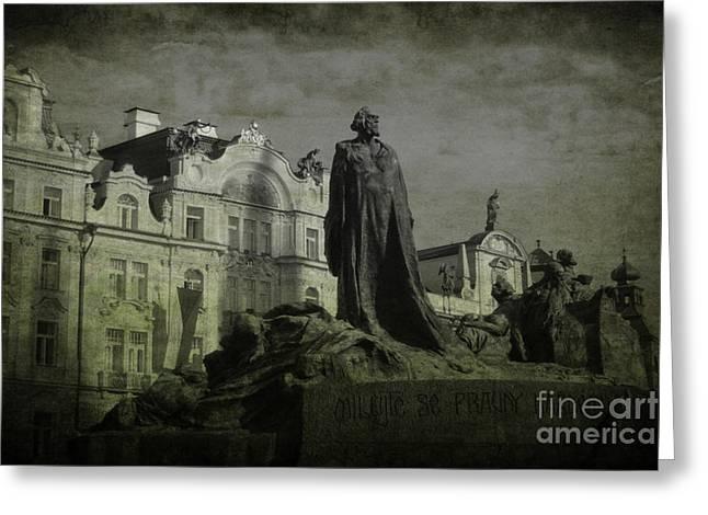 Death in Prague Greeting Card by Lee Dos Santos