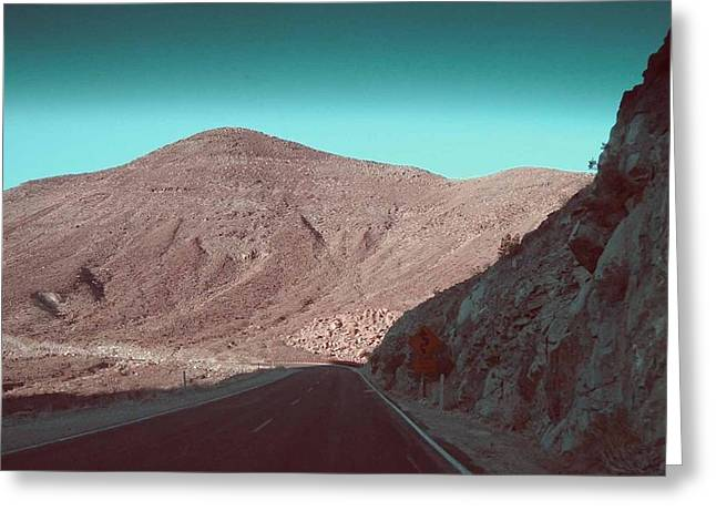 Mountain Road Greeting Cards - Death Valley Road 2 Greeting Card by Naxart Studio