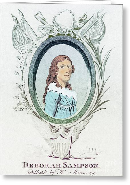 Us History Greeting Cards - Deborah Sampson, American Patriot Greeting Card by Photo Researchers