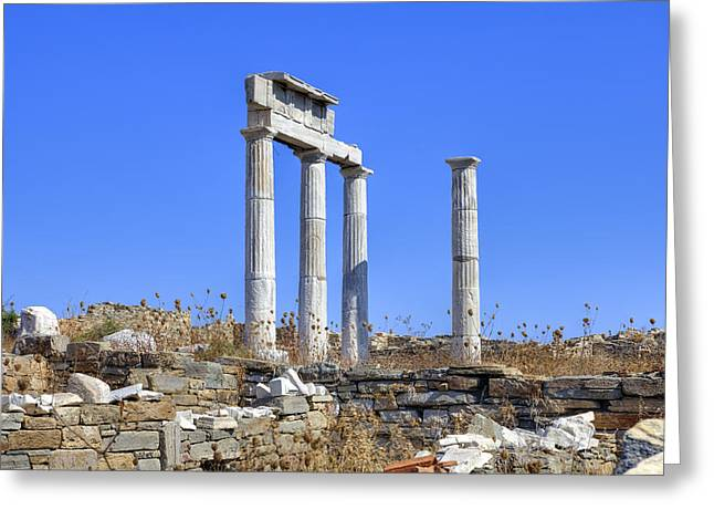 Sacred Greeting Cards - Delos Greeting Card by Joana Kruse