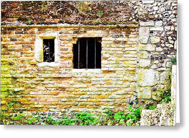 Collapsing Greeting Cards - Derelict building Greeting Card by Tom Gowanlock