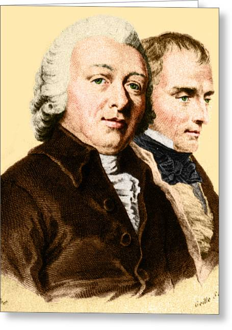 Francois Greeting Cards - Desault And Bichat, French Anatomists Greeting Card by Science Source
