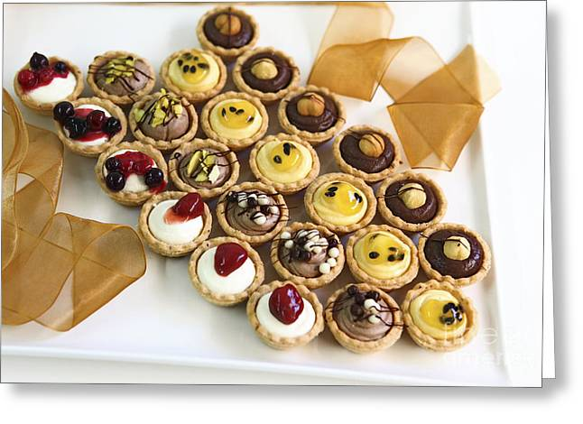 Ready-to-eat Greeting Cards - Dessert cake Greeting Card by PhotoStock-Israel