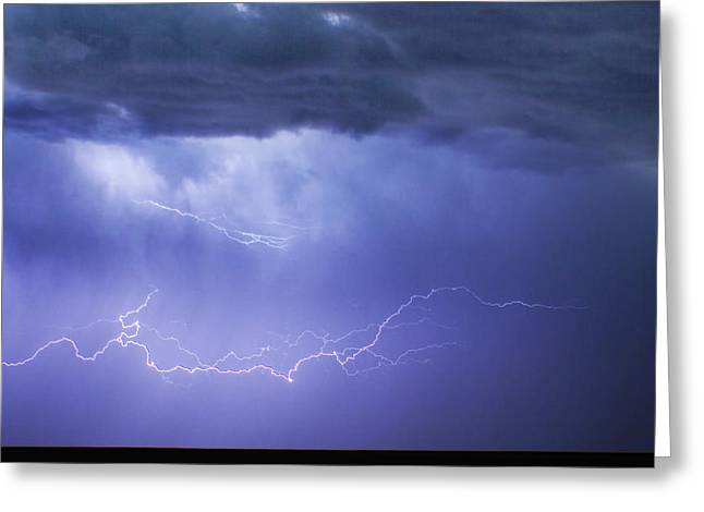 The Lightning Man Greeting Cards - DIA Country Farm Field Lightning Striking 85 Greeting Card by James BO  Insogna