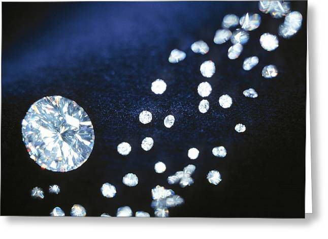 Valuable Photographs Greeting Cards - Diamond Gemstones Greeting Card by Lawrence Lawry