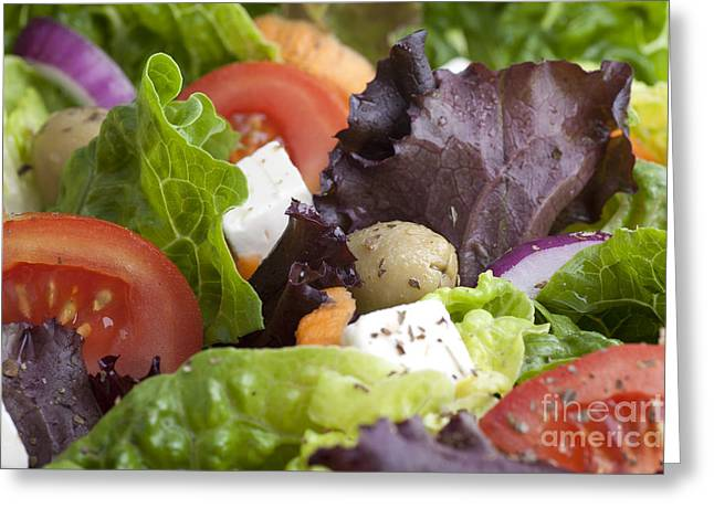 Dinner Salad Greeting Card by Charlotte Lake