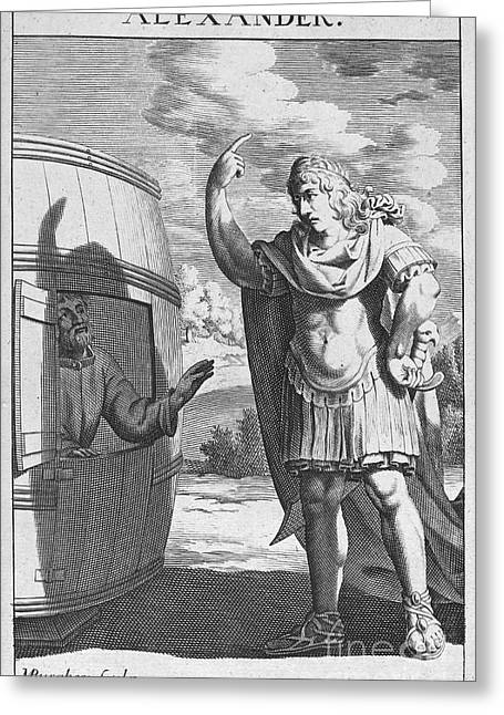 4th Greeting Cards - Diogenes & Alexander Greeting Card by Granger