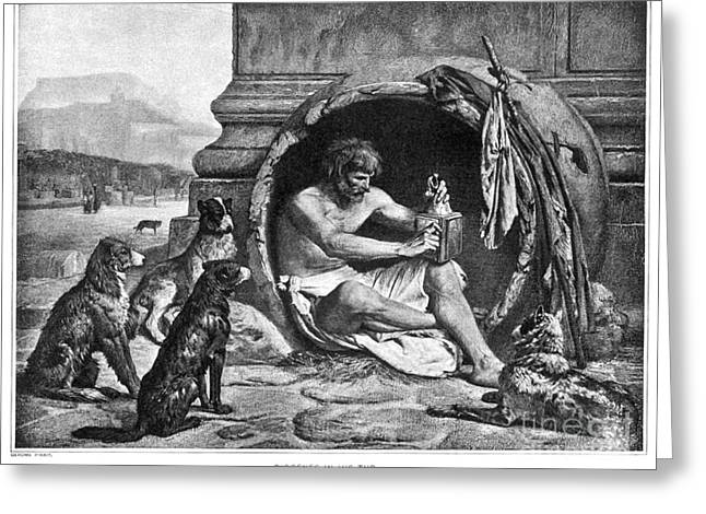4th Greeting Cards - DIOGENES (c412-323 B.C.) Greeting Card by Granger