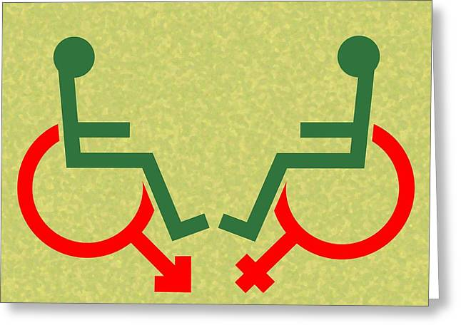Disability Photographs Greeting Cards - Disability Sexuality, Conceptual Artwork Greeting Card by Stephen Wood