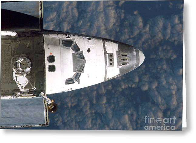 21st Greeting Cards - Discovery Docking With Iss, Sts-114 Greeting Card by NASA / Science Source