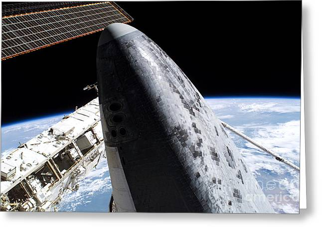 21st Greeting Cards - Discovery Heat Shield Tiles Greeting Card by NASA / Science Source