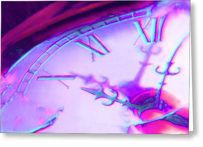 Clock Face Greeting Cards - Distorted Time Greeting Card by Mike McGlothlen