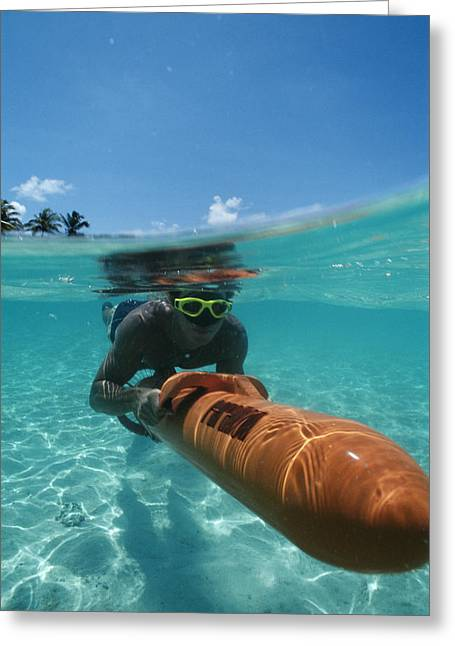 Swimmers Photographs Greeting Cards - Diver Propulsion Vehicle (dpv) Greeting Card by Alexis Rosenfeld