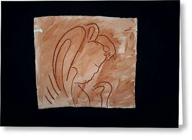 Love Ceramics Greeting Cards - Divine Shepherd Greeting Card by Gloria Ssali