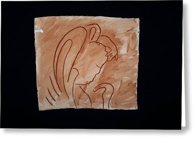 Divine Shepherd Greeting Card by Gloria Ssali