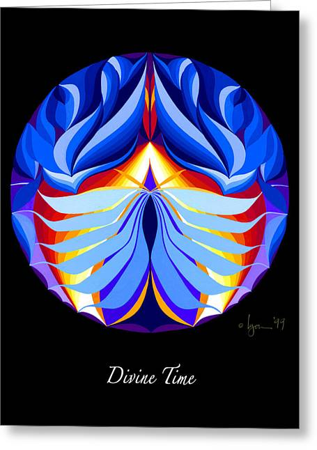 Survivor Art Greeting Cards - Divine Time Greeting Card by Angela Treat Lyon