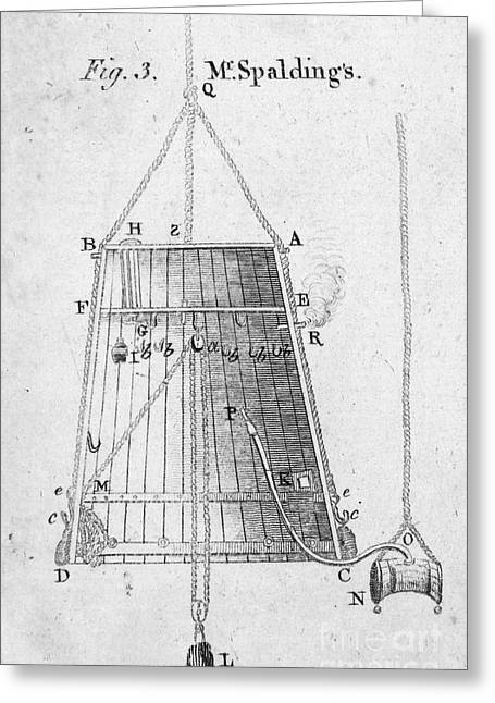 Diving Bell Greeting Cards - DIVING BELL, 18th CENTURY Greeting Card by Granger