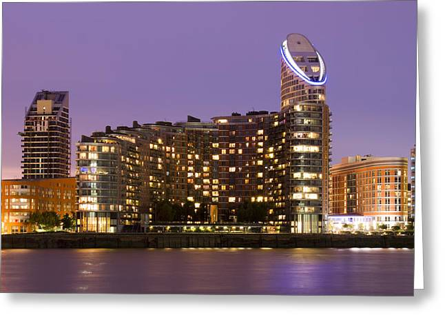 Citi Greeting Cards - Docklands apartments Greeting Card by David French