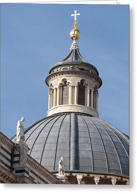 Cupola Greeting Cards - Dome Siena Cathedral Italy Greeting Card by Matthias Hauser