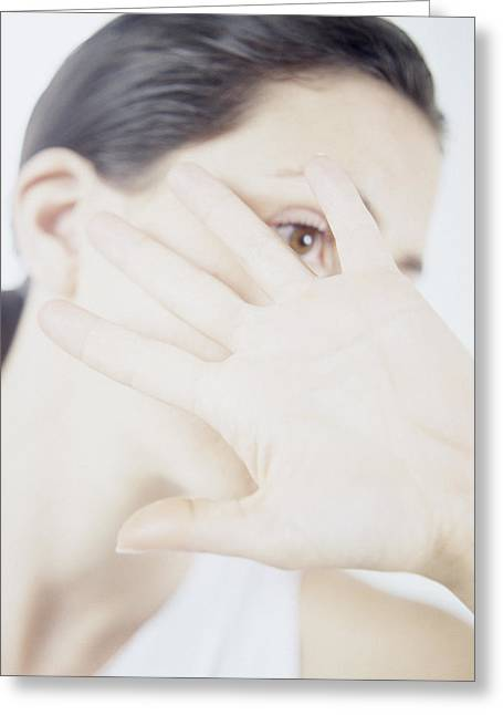 Startled Greeting Cards - Domestic Violence Greeting Card by Cristina Pedrazzini