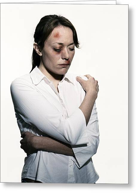 Interpersonal Greeting Cards - Domestic Violence Greeting Card by Kevin Curtis