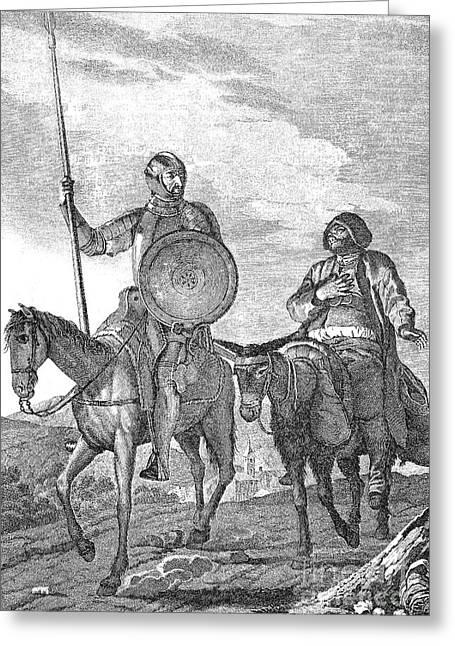 Sancho Panza Greeting Cards - Don Quixote & Sancho Panza Greeting Card by Granger