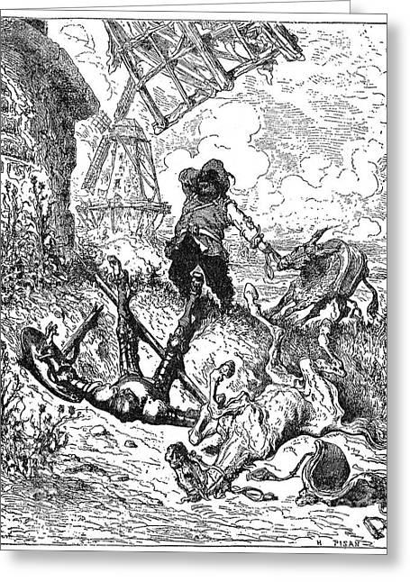 Sancho Panza Greeting Cards - Don Quixote Greeting Card by Granger