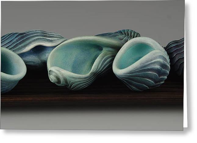 Vesery Sculptures Greeting Cards - Dont Make Waves Greeting Card by Jacques Vesery