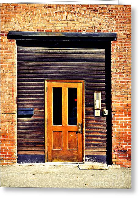 Warehouse Greeting Cards - Door Greeting Card by HD Connelly