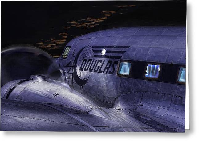 Commuter Plane Greeting Cards - Douglas DC-3 Greeting Card by Michael Cleere