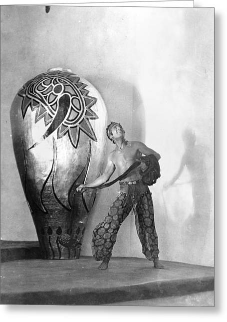 Recently Sold -  - Baghdad Greeting Cards - Douglas Fairbanks Greeting Card by Granger