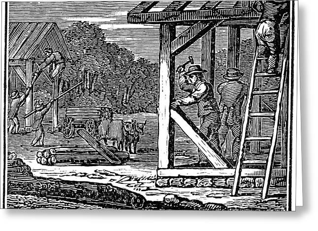Recently Sold -  - Engraving Greeting Cards - Dover, New Hampshire, 1623 Greeting Card by Granger