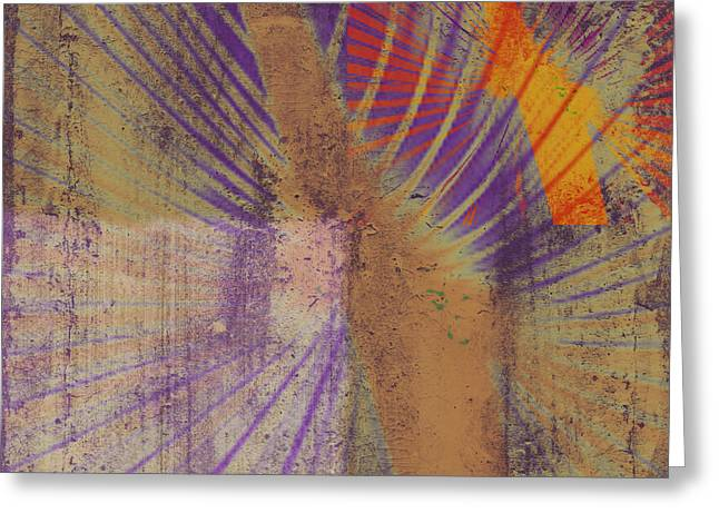Violet Art Mixed Media Greeting Cards - Dreaming Greeting Card by Kaypee Soh - Printscapes