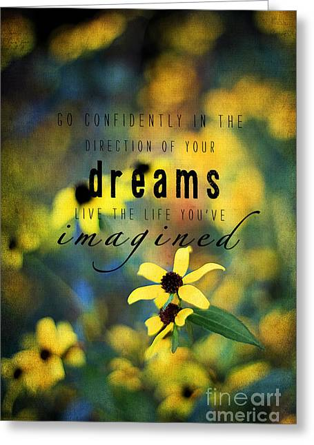 Pretty Brown Eyes Greeting Cards - Dreams Greeting Card by Darren Fisher
