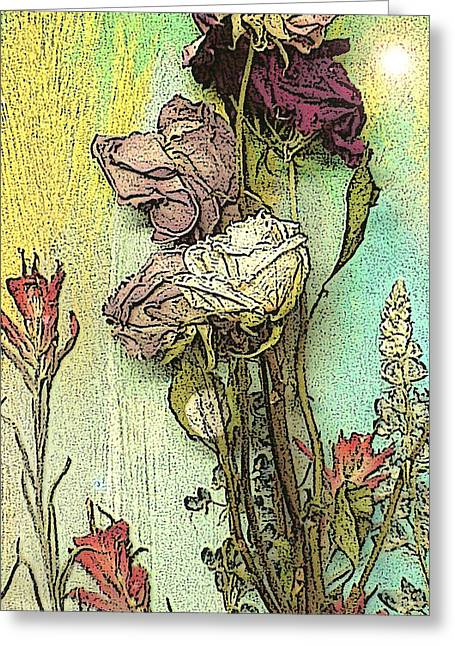 Visionary Artist Greeting Cards - Dried flowers Greeting Card by George  Page