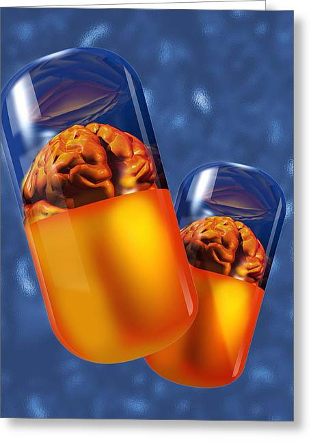 Antidepressant Greeting Cards - Drug Abuse Greeting Card by Victor Habbick Visions