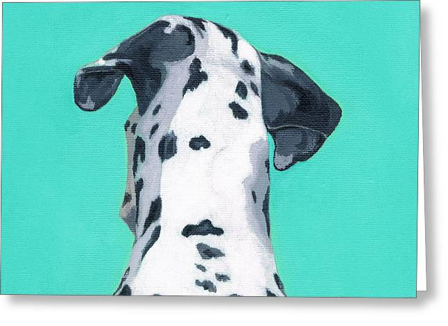 Spotted Dogs Greeting Cards - Duke Greeting Card by Brian Ogi