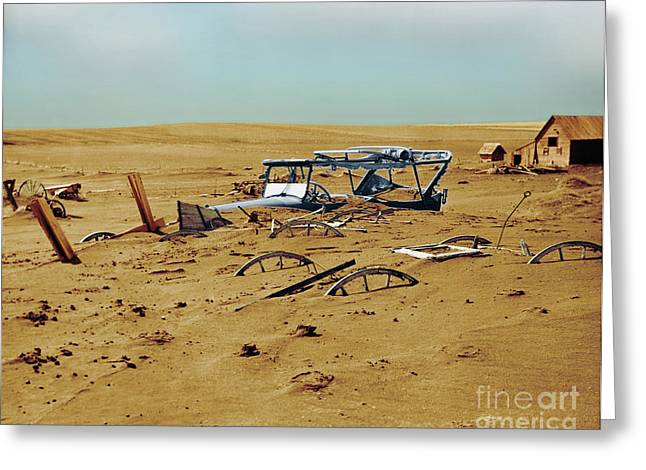 Color Enhanced Greeting Cards - Dust Bowl Greeting Card by Omikron