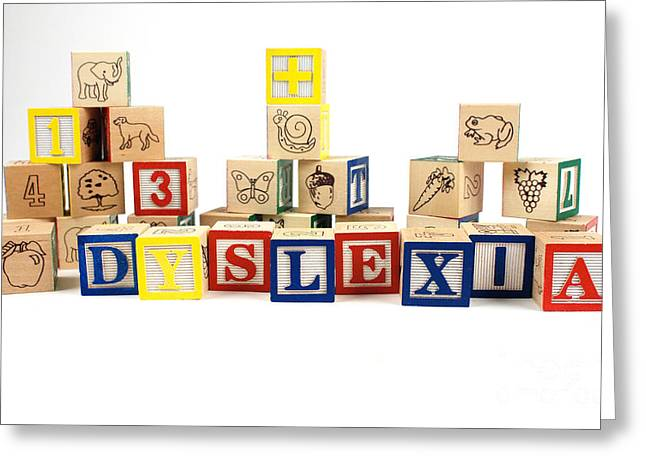 Impairment Greeting Cards - Dyslexia Greeting Card by Photo Researchers, Inc.