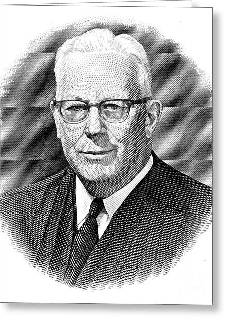 Chief Justice Photographs Greeting Cards - Earl Warren (1891-1974) Greeting Card by Granger