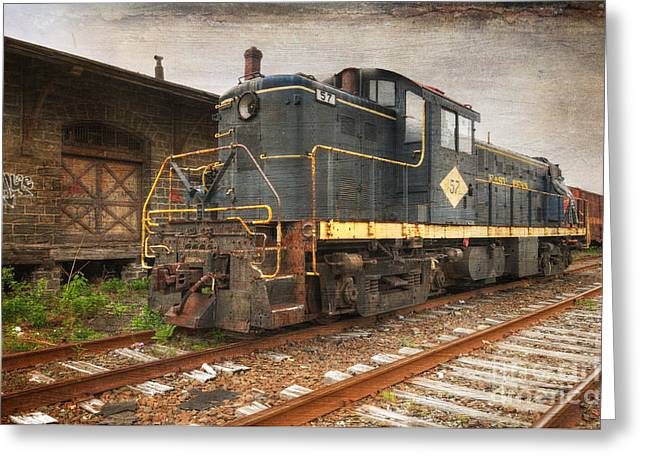 East Penn Locomotive Greeting Card by Paul Ward